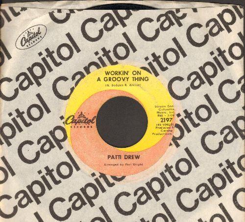 Drew, Patti - Workin' On A Groovy Thing/Without A Doubt (with Capitol company sleeve) - VG7/ - 45 rpm Records