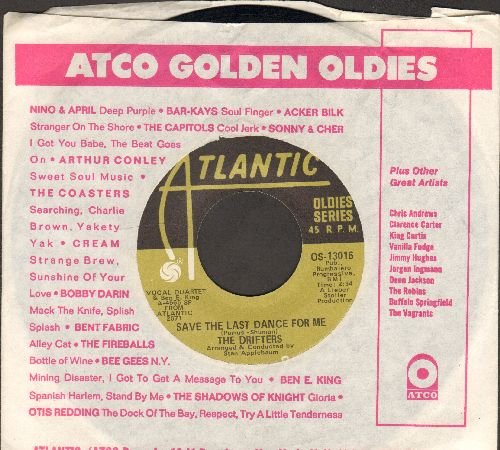 Drifters - Save The Last Dance For Me/When My Little Girl Is Smiling (double-hit re-issue with Atlantic company sleeve) - EX8/ - 45 rpm Records