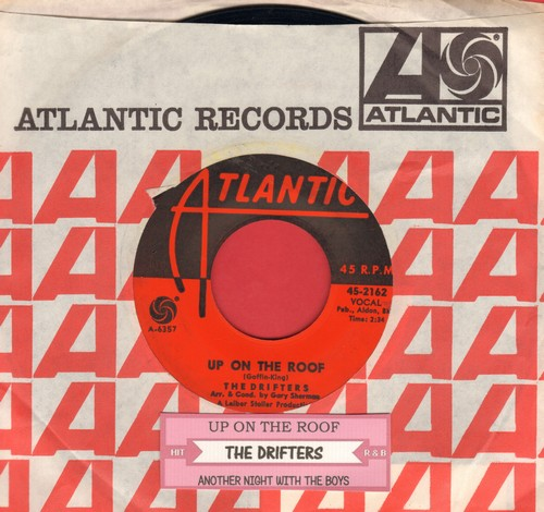 Drifters - Up On The Roof/Another Night With The Boys (with Atlantic company sleeve and juke box label) - VG7/ - 45 rpm Records