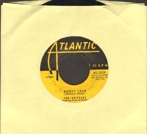 Drifters - Honey Love/Warm Your Heart (yellow label early issue) - VG6/ - 45 rpm Records