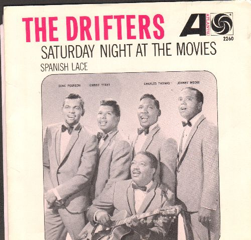 Drifters - Saturday Night At The Movies/Spanish Lace (first pressing with picture sleeve) - EX8/NM9 - 45 rpm Records