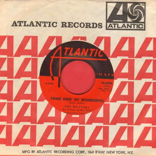 Drifters - Some Kind Of Wonderful/Honey Bee (with vintage Atlantic company sleeve) - NM9/ - 45 rpm Records