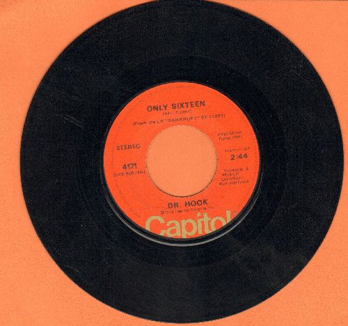 Dr. Hook - Only Sixteen/Let Me Be Your Lover  - EX8/ - 45 rpm Records