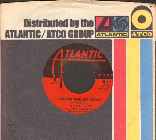 Drifters - Sweets For My Sweet/Loneliness Or Happiness (with Atlantic company sleeve) - EX8/ - 45 rpm Records
