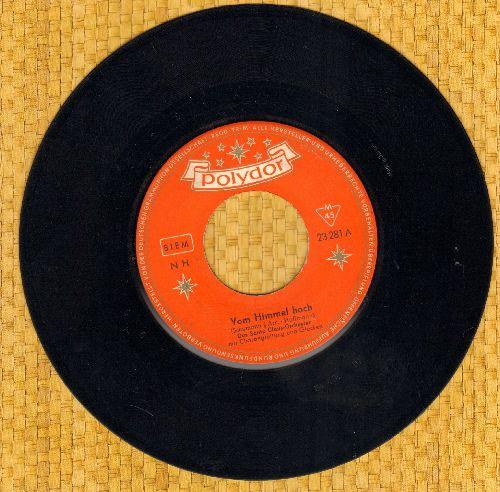 Santa Claus Orchester - Vom Himmel hoch da komm' ich her/Es ist ein Ros' entsprungen (German Pressing, sung in German) - EX8/ - 45 rpm Records