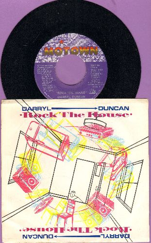 Duncan, Darryl - Rock The House/Rock The House (Instrumental) (with picture sleeve, song lyrics on back) - NM9/EX8 - 45 rpm Records
