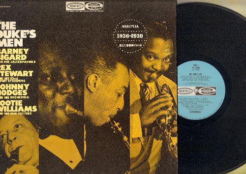 Bigard, Barney, Rex Stewart, Johnny Hodges, Cootie Williams - The Duke's Men: Back Room Rump, Stompy Jones, Jitterbug's Lullaby, Echoes Of Harlem (re-issue of original 1936-1939 recordings, vinyl LP record, DJ pressing, gate-fold cover) - NM9/EX8 - LP Rec