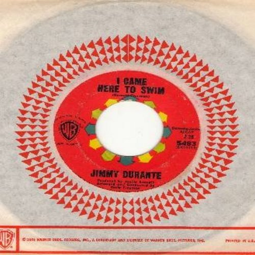 Durante, Jimmy - I Came Here To Swim/Old Man Time (with vintage Earner Brothers company sleeve) - VG7/ - 45 rpm Records
