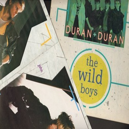 Duran Duran - The Wild Boys (8:00 minutes Maxi Version)/The Wild Boys (4:00 minutes)/Cracks In The Pavement (4:00 minutes) (12 inch Maxi single with picture cover, with poster book) - EX8/VG7 - Maxi Singles