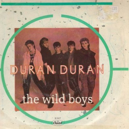 Duran Duran - The Wild Boys/Cracks In The Pavement (with Capitol company sleeve and juke box label) - NM9/VG7 - 45 rpm Records
