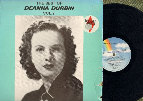 Durbin, Deanna - The Best Of Deanna Durbin Vol. 2: Silent Night, La Estrellita, Love's Old Sweet Song, My Hero, Poor Butterfly, Annie Laurie, Cielito Lindo (vinyl MONO LP record, re-issue of vintage recordings) - NM9/VG6 - LP Records