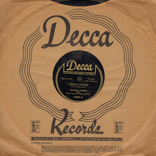 Durbin, Deanna - Annie Laurie/Poor Butterfly (10 inch 78 rpm record with Decca company sleeve) - VG6/ - 78 rpm