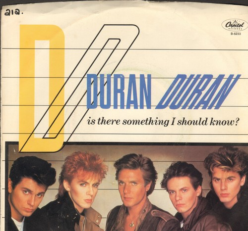 Duran Duran - Is There Something I Should Know?/Careless Memories (with picture sleeves) (minor wos/wol) - NM9/EX8 - 45 rpm Records