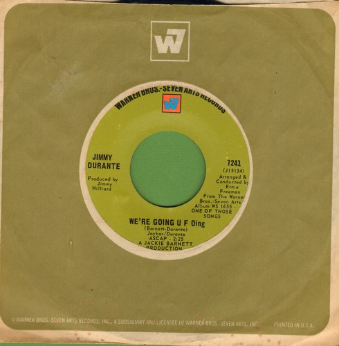 Durante, Jimmy - We're Going U F Oing/Dear World (duet with Maurice Chevalier) (DJ advance pressing with Warner Brothers company sleeve) - NM9/ - 45 rpm Records