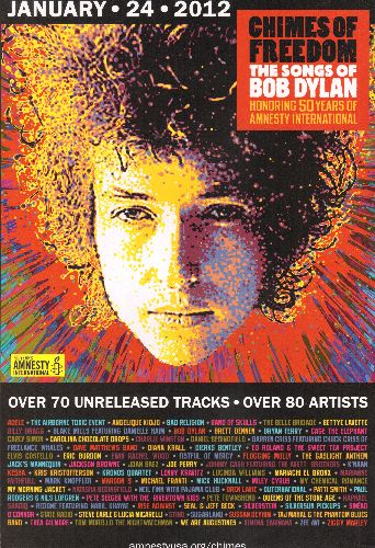Dylan, Bob - Bob Dylan - Chimes of Freedom 11 X 17 LIMITED EDITION store-display Poster in heavy polypropylene protective sleeve. COLLECTOR'S ITEM! - NM9/ - Poster