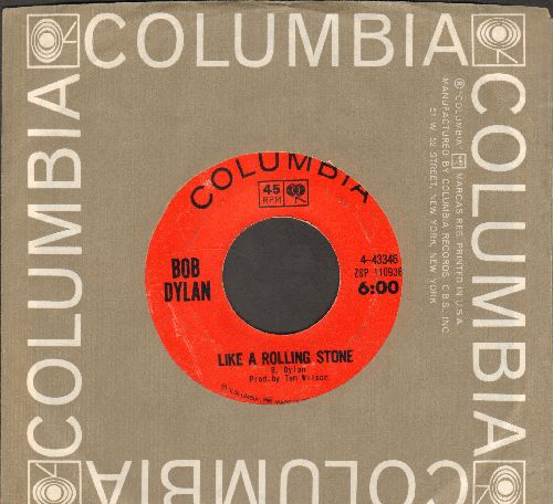 Dylan, Bob - Like A Rolling Stone/Gates Of Eden (with Columbia company sleeve) - EX8/ - 45 rpm Records