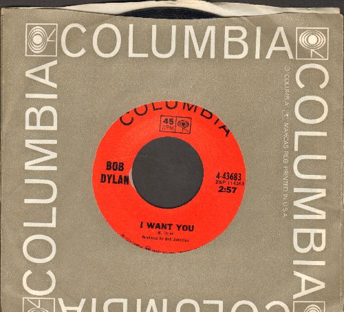 Dylan, Bob - I Want You/Just Like Tom Thumb's Blues (with Columbia company sleeve) - EX8/ - 45 rpm Records