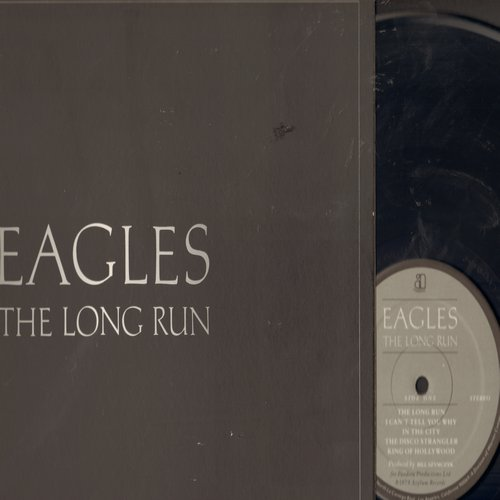 Eagles - The Long Run: Heartache Tonight, Teenage Jail, The Greeks Don't Want No Freaks, The Disco Strangler, King Of Hollywood (vinyl LP record, gate-fold cover) - NM9/EX8 - LP Records