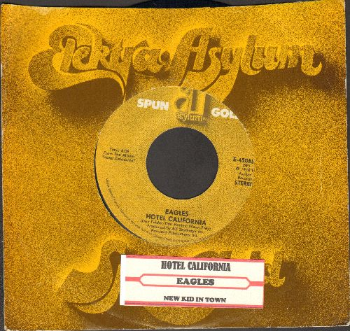 Eagles - Hotel California/New Kid In Town (double-hit re-isuse with juke box label and company sleeve) - EX8/ - 45 rpm Records