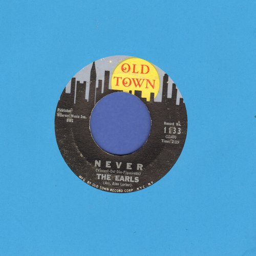 Earls - Never/I Keep A Tellin' You (bb) - VG6/ - 45 rpm Records