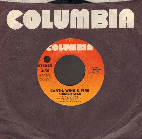 Earth, Wind & Fire - Shining Star (WEDDING DANCE FAVORITE!)/Yearnin', Learnin' (with Columbia company sleeve) - VG7/ - 45 rpm Records