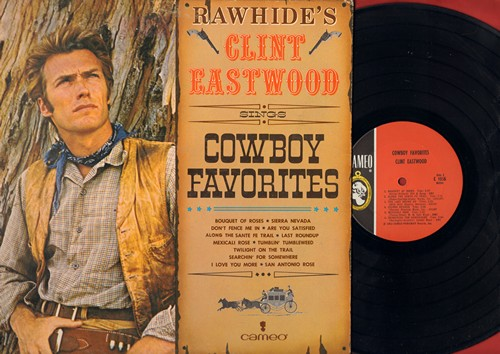 Eastwood, Clint - Cowboy Favorites: Don't Fence Me In, Tumbling Tubleweeds, The Last Round Up, San Antonio Rose, Sierra Nevada (vinyl MONO LP record) - NM9/NM9 - LP Records