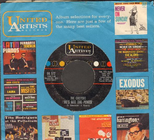 Exciters - He's Got The Power/Drama Of Love (with vintage United Artists company sleeve) - VG7/ - 45 rpm Records