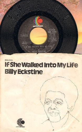 Eckstine, Billy - If She Walked Into My Life/Remembering (with picture sleeve) - NM9/VG7 - 45 rpm Records