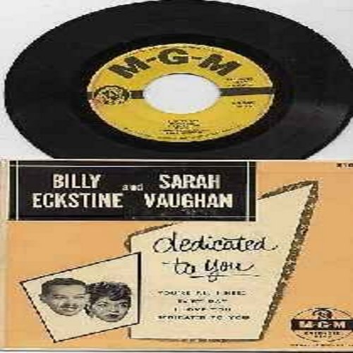 Vaughan, Sarah & Billy Eckstine - Dedicated To You/You're All I Need/I Love You/Ev'ry Day (vinyl EP record with picture cover) - VG7/EX8 - 45 rpm Records