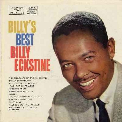 Eckstine, Billy - Billy's Best: Stella By Starlight, Babalu, Sunday Kind Of Love, Zing Went The Strings Of My Heart, The Boulevard Of Broken Dreams (vinyl LP record, 1958 first issue) - NM9/EX8 - LP Records