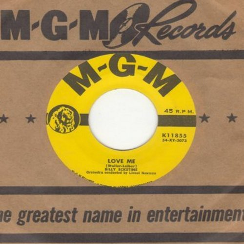 Eckstine, Billy - Love Me/One Sweet Kiss (with vintage MGM company sleeve) - NM9/ - 45 rpm Records