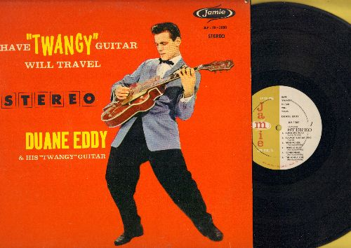 Eddy, Duane - Have Twangy Guitar Will Travel: Detour, Ram Rod, Lonesome Road, Rebel-Rouser (vinyl STEREO LP record, red cover) - EX8/EX8 - LP Records