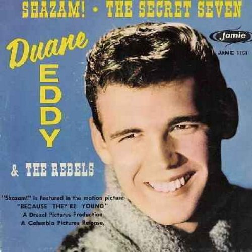 Eddy, Duane - Shazam!/The Secret Seven (with picture sleeve) (wol) - VG7/VG6 - 45 rpm Records