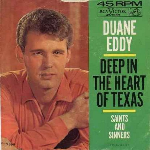 Eddy, Duane - Deep In The Heart Of Texas/Saints And Sinners (with picture sleeve) - EX8/EX8 - 45 rpm Records