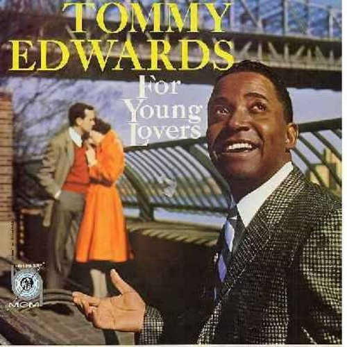 Edwards, Tommy - For Young Lovers: My Melancholy Baby, I Looked At Heaven, Once There Lived A Fool, Paradise, Up In A Cloud, Welcome Me (vinyl MONO LP record, yellow label first issue, NICE condition!) - VG7/VG7 - LP Records