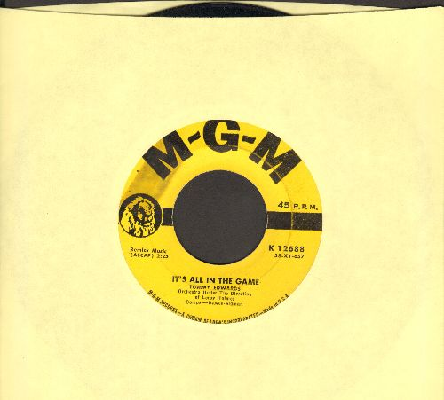 Edwards, Tommy - It's All In The Game (Many-A Tear Has To Fall)/Please Love Me Forever - VG7/ - 45 rpm Records