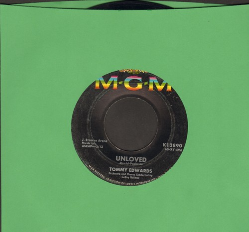 Edwards, Tommy - Unloved/I Really Don't Want To Know  - VG7/ - 45 rpm Records