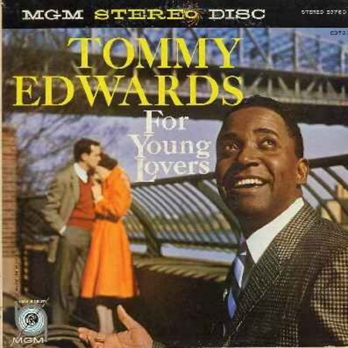 Edwards, Tommy - For Young Lovers: My Melancholy Baby, I Looked At Heaven, Once There Lived A Fool, Paradise, Up In A Cloud, Welcome Me (vinyl STEREO LP record, yellow label first issue) - NM9/VG7 - LP Records