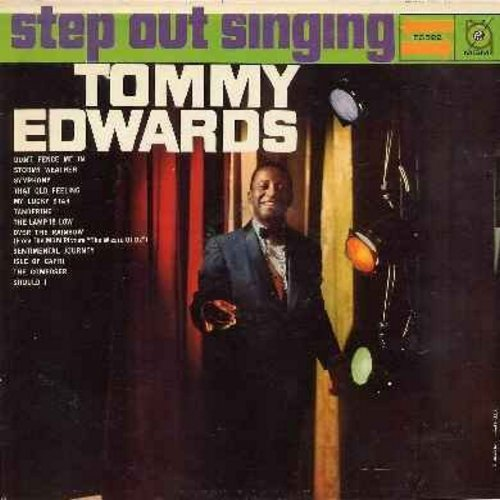 Edwards, Tommy - Step Out Singing: Stormy Weather, Don't Fence Me In, My Lucky Star, Over The Rainbow, Sentimental Journey (vinyl MONO LP record) - EX8/EX8 - LP Records