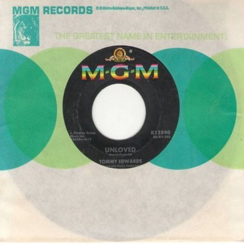 Edwards, Tommy - Unloved/I Really Don't Want To Know (with MGM company sleeve) - EX8/ - 45 rpm Records