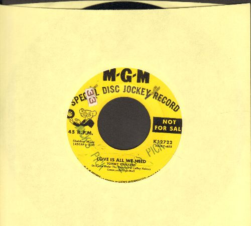 Edwards, Tommy - Love Is All We Need/Mr. Music Man (yellow label DJ advance pressing, minor wol) - EX8/ - 45 rpm Records