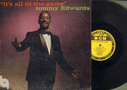 Edwards, Tommy - It's All In The Game: Please Mr. Sun, Please Love Me Forever, Love Is All We Need (vinyl MONO LP record, yellow label first pressing) - EX8/EX8 - LP Records