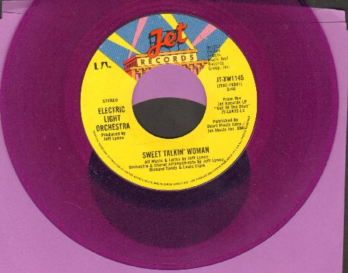 Electric Light Orchestra - Sweet Talkin' Woman/Fire On High (RARE Purple Vinyl pressing!) - NM9/ - 45 rpm Records