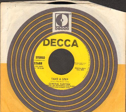 General Elektrik - Take A Step/Miami, F-L-A (DJ advance pressing with Decca company sleeve) - NM9/ - 45 rpm Records