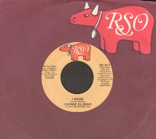 Elliman, Yvonne - I Know/I Can't Get You Outta My Mind (with RSO company sleeve) - EX8/ - 45 rpm Records