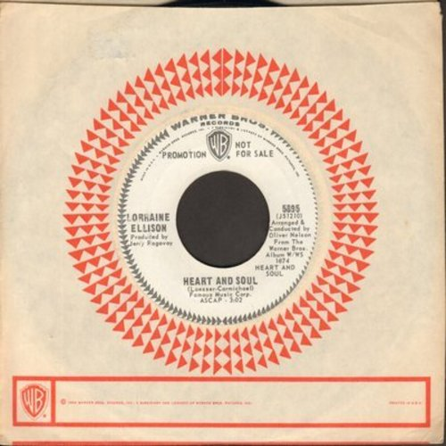 Ellison, Lorraine - Heart And Soul/If I Had A Hammer (NICE two-sider! DJ advance pressing with Warner Brothers company sleeve) - M10/ - 45 rpm Records
