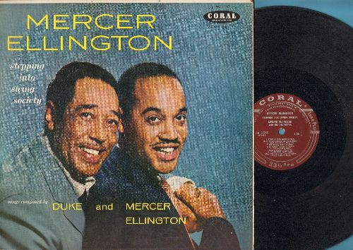 Ellington, Mercer - Stepping Into Swing Society: Broadway Babe, Black Butterfly, Be Patient, Frolic Sam, Ruint (vinyl MONO LP record, burgundy label first pressing) - VG7/EX8 - LP Records