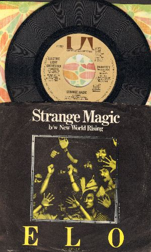 Electric Light Orchestra - Strange Magic/New World Rising (with picture sleeve) - EX8/EX8 - 45 rpm Records
