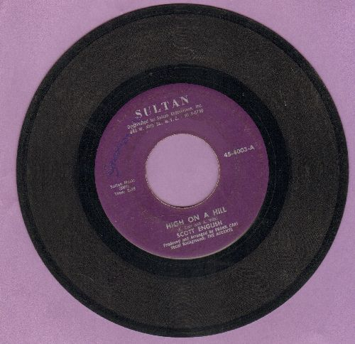 English, Scott - High On A Hill/When  - VG7/ - 45 rpm Records
