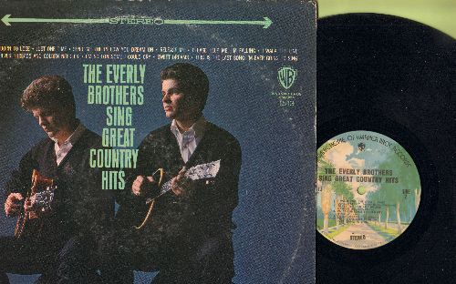 Everly Brothers - Great Country Hits: Born To Lose, Release Me, Sweet Dreams, I Walk The Line, Oh Lonesome Me (vinyl STEREO LP record, 1970s pressing) - EX8/VG6 - LP Records